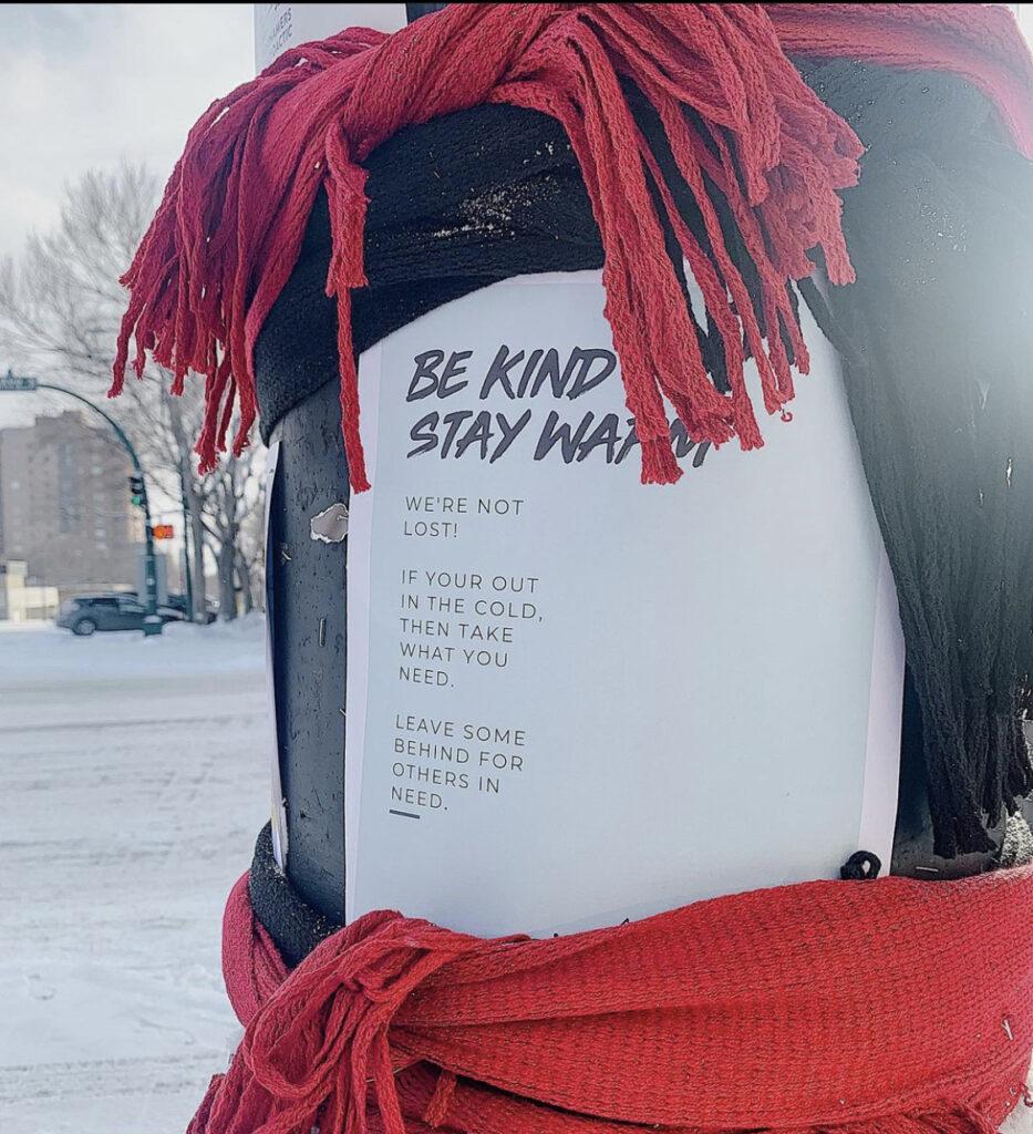 be kind // stay warm